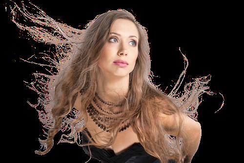 Frau mit Halskette