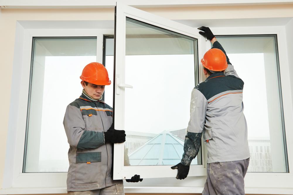 Einbau von Kunststofffenster