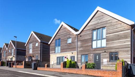 Holzhaus als Doppelhaus